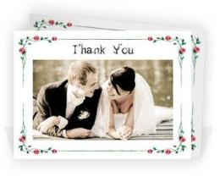 Beautiful wedding thank you card