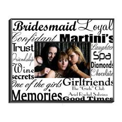 Personalised bridesmaid photo frame
