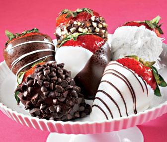 Yummy chocolate strawberries