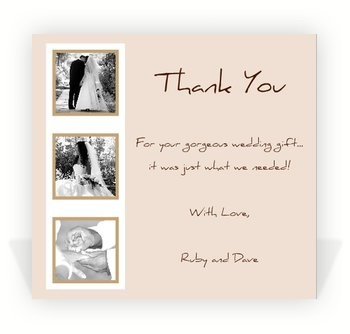 Thank you cards money wedding