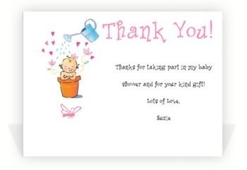 baby shower thank you notes sample thank you notes