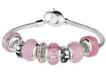 Murano bracelet and charm gift set